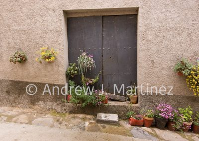Door with flowers, Spain