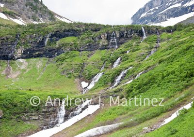 Waterfalls in Glacier National Park, Montana